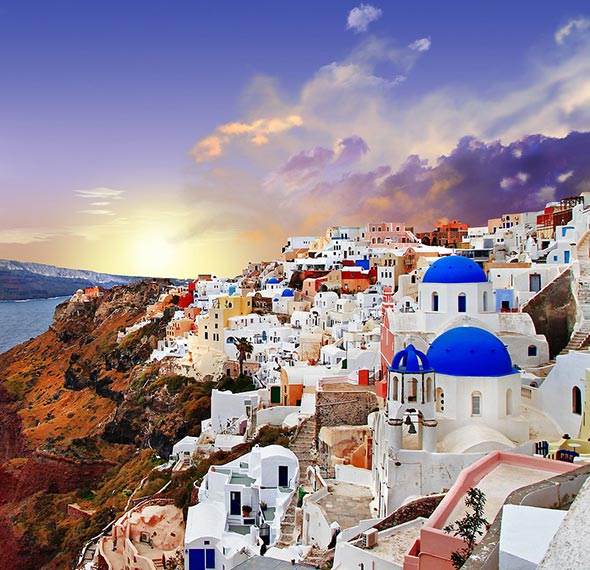 Santorini beautiful tourist place